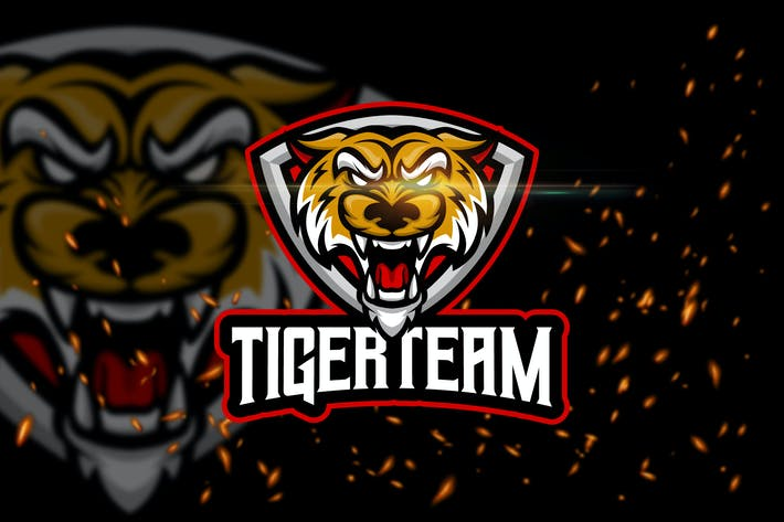 Thumbnail for Tiger - Angry Animal eSport Logo Template