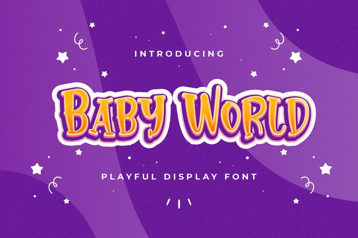 Thumbnail for Baby World - Police d'affichage ludique