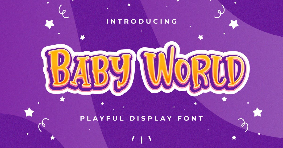 Download Baby World - Playful Display Font by StringLabs