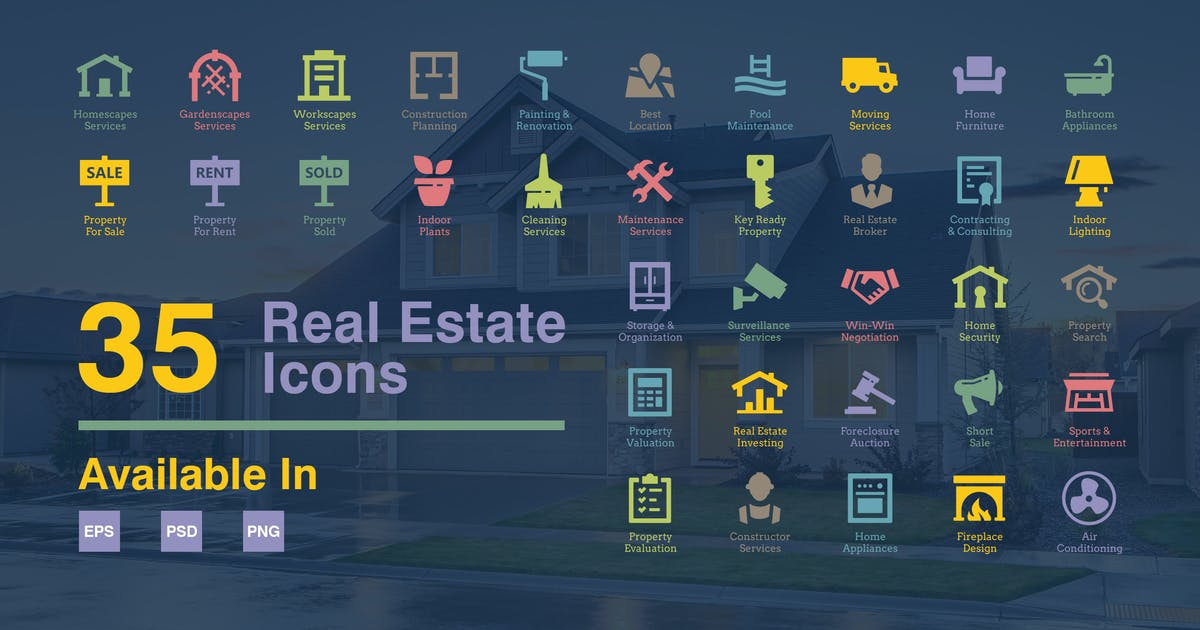 Download Real Estate Icons by floringheorghe