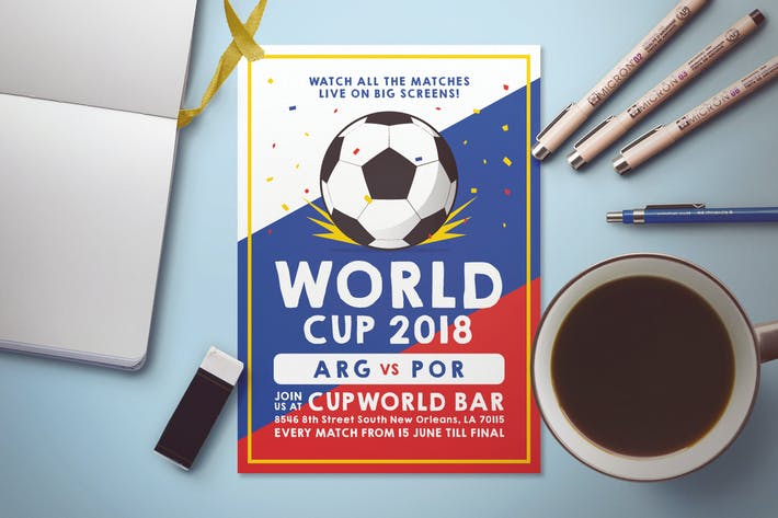 Thumbnail for Soccer World Cup Flyer