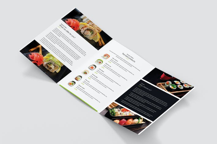 Thumbnail for Brochure – Sushi Restaurant Tri-Fold A5