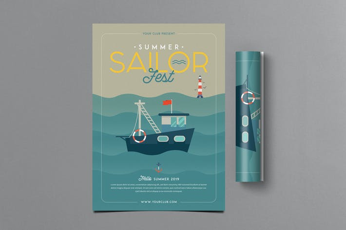 Cover Image For Summer Sailor Fest Flyer