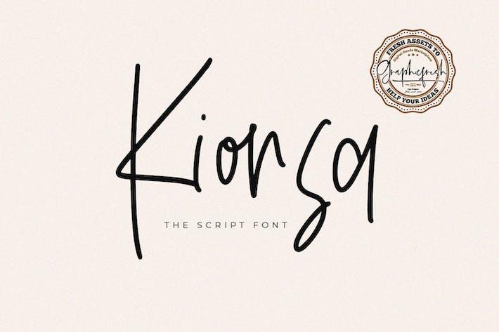 Thumbnail for Kionsa Script Typeface Font