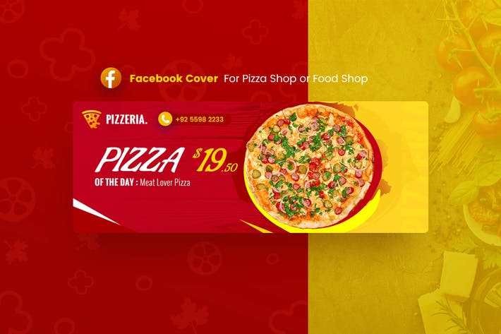 Thumbnail for Pizzaria - Food Facebook Cover Template