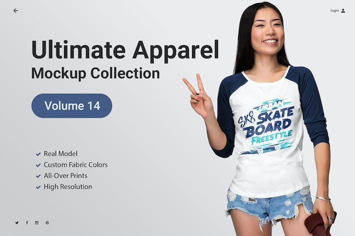 Thumbnail for Ultimate Apparel Mockup Vol. 14