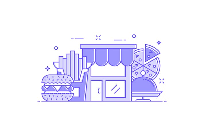 Thumbnail for Fast Food Concept Illustration