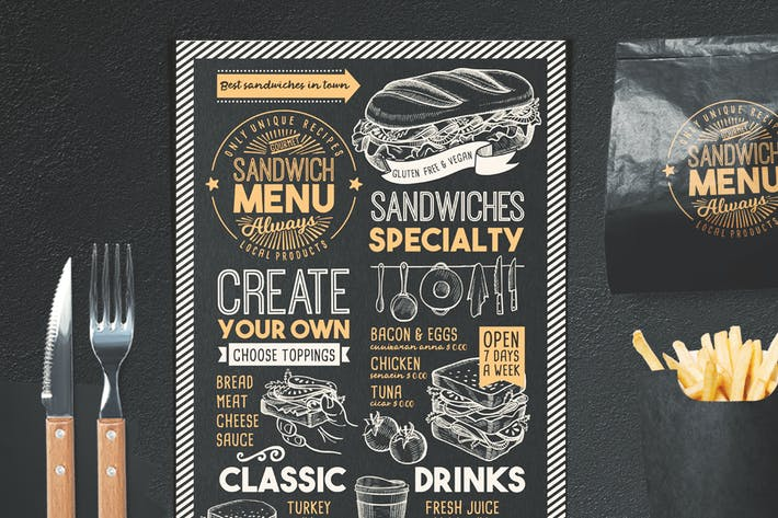 Thumbnail for Sandwich Food Menu