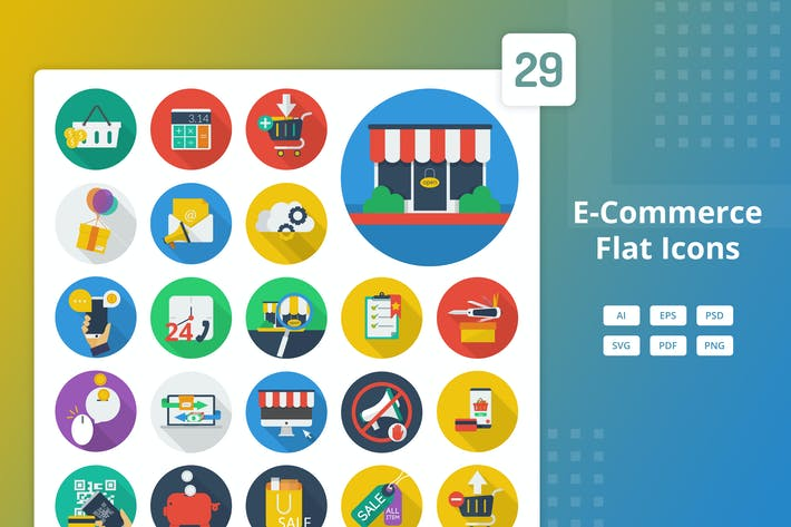 Thumbnail for E-Commerce - Flat Icons