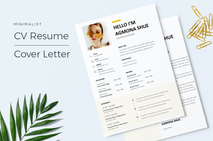 Thumbnail for Agmona - CV Resume Template