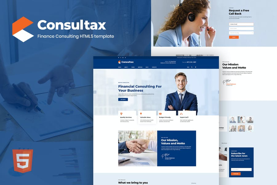 Consultax - Financial & Consulting HTML5 Template - product preview 0