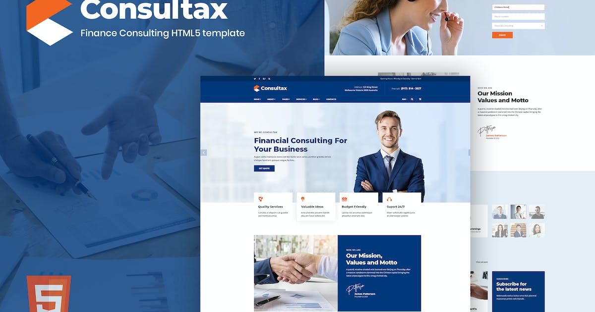 Download Consultax - Financial & Consulting HTML5 Template by ThemeModern