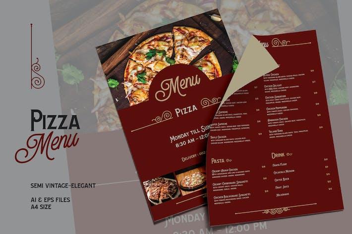 Thumbnail for Semi Vintage Elegant - Pizza Menu