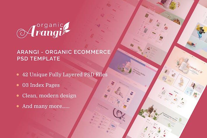 Thumbnail for Arangi - Organic Ecommerce PSD Template