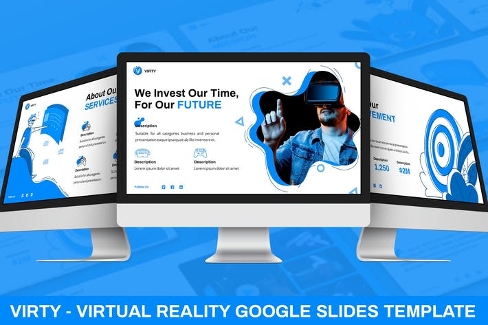 Thumbnail for Virty - Virtual Reality Google Slides Vorlage
