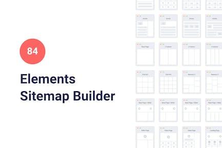 84 Sitemap Elements for Keynote