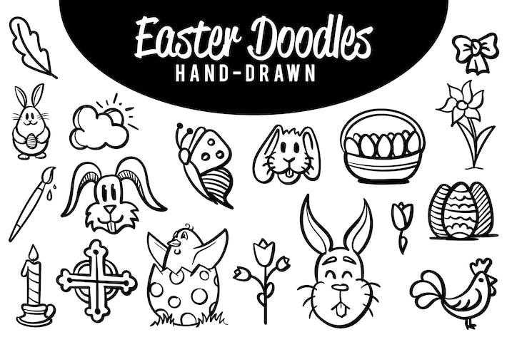 Garabatos de Pascua dibujados a mano
