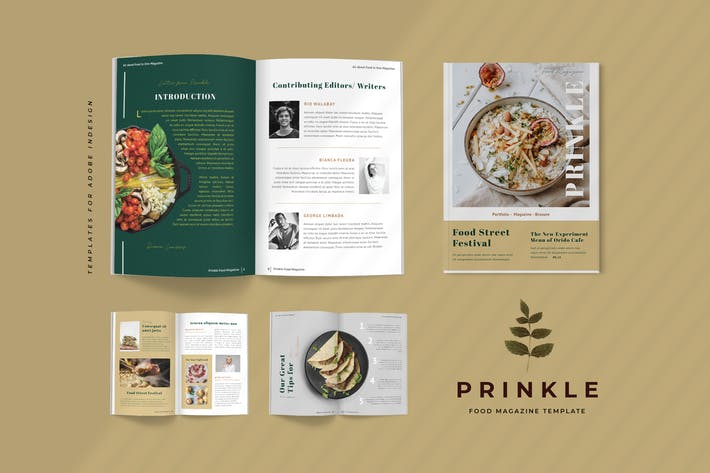 Cover Image For Prinkle - Food Magazine Template