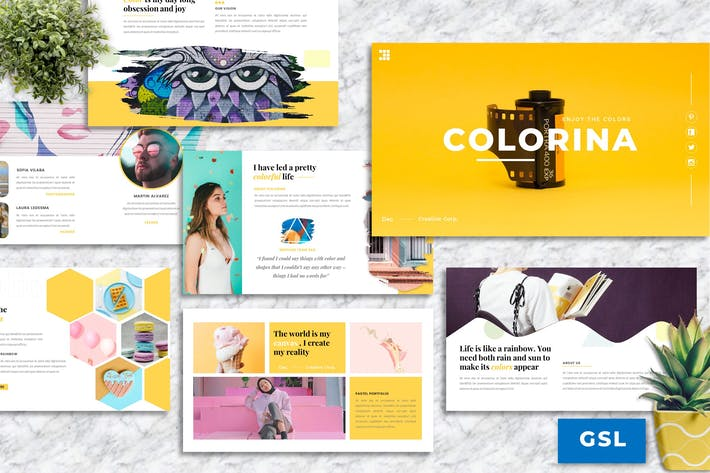 Thumbnail for Colorina – Creative Business Googleslide Template