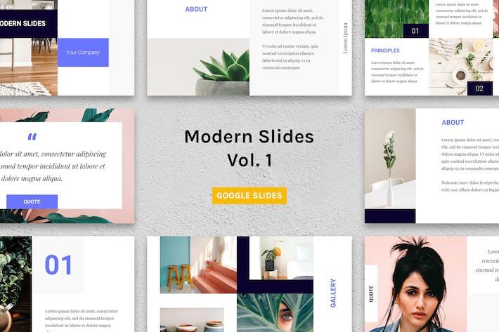 Thumbnail for Modern Slides (Vol.1) – Google Slides Template