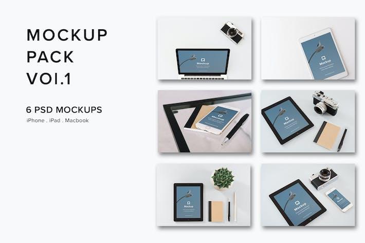 Thumbnail for Mockup Pack Vol.1- 06 Photorealistic PSD