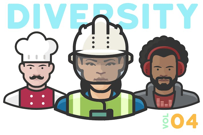 Thumbnail for Diversity Avatars v2 - Volume 04