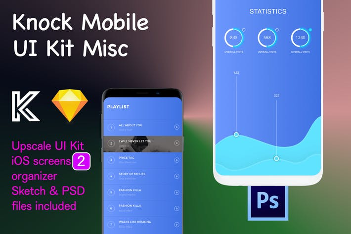 Thumbnail for Knock Mobile UI Kit eCommerce - Misc 2 Screens