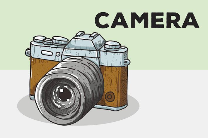 Camera Vector Background