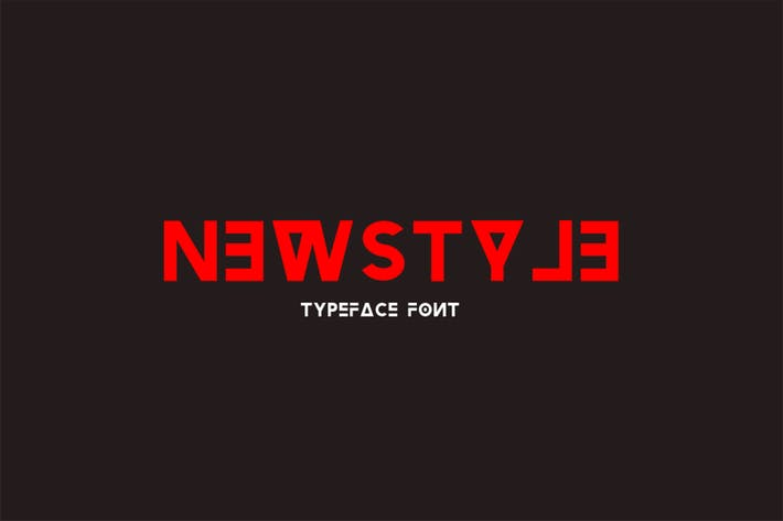 Thumbnail for Newstyle Typeface Font