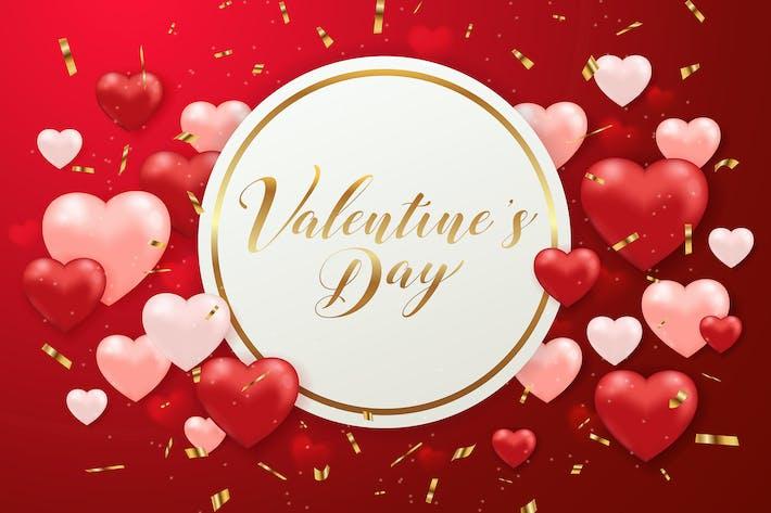 Thumbnail for Día de San Valentín Fondo con corazones