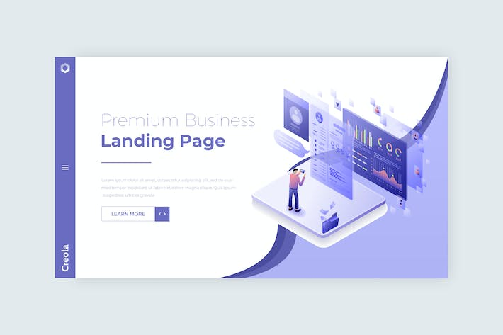 Thumbnail for Creola - Hero Banner landing page template