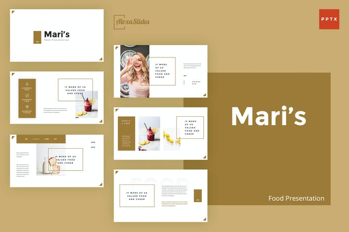 Thumbnail for Mari - Food Powerpoint Presentation Template