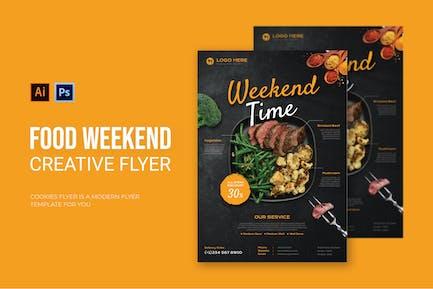Food Weekend - Flyer