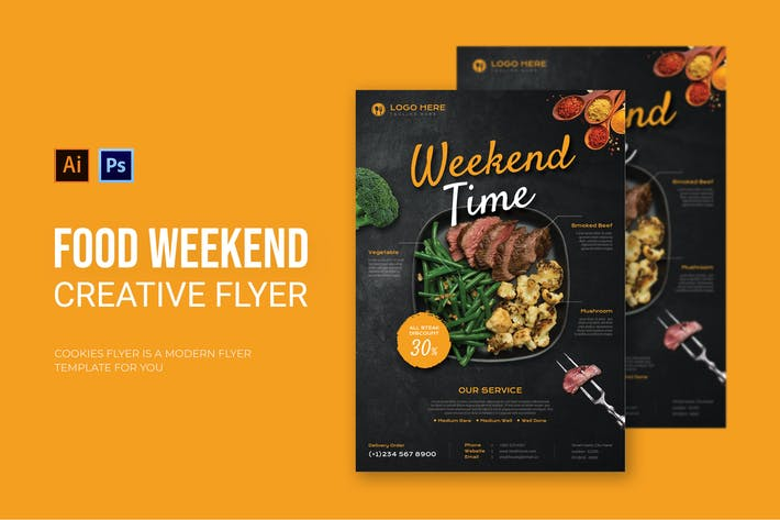 Food Weekend - Flyer