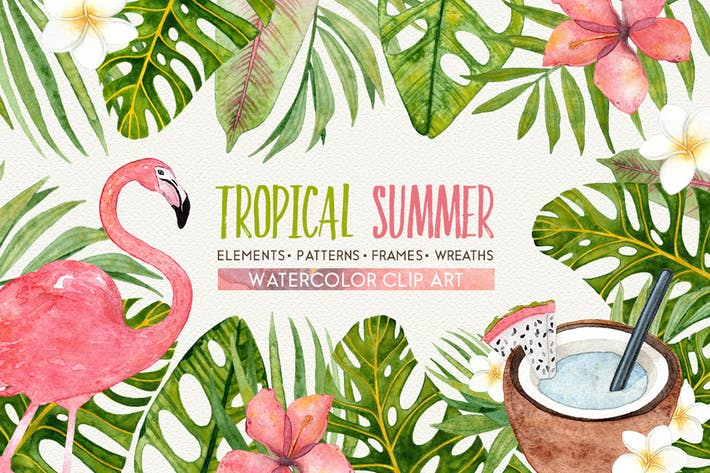 Thumbnail for Ensemble aquarelle TROPICAL SUMMER
