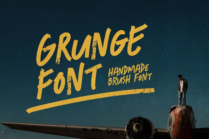 Thumbnail for Grunge Font - Freestyle Display Font