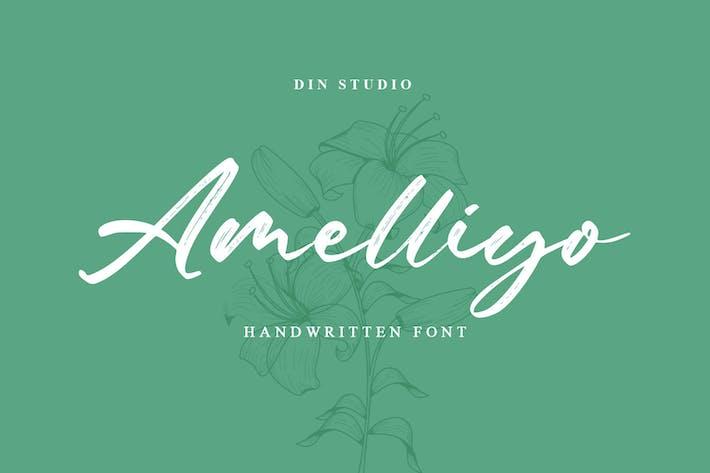 Thumbnail for Amelliyo-Handwritten Font