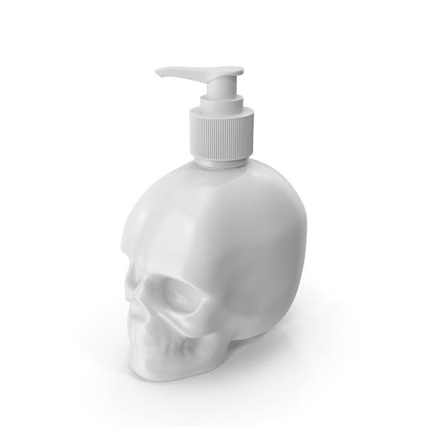 White Skull Bottle With White Pump