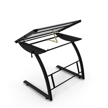 Mesa de dibujo de vidrio inclinable