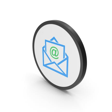 Icon Email Envelope Blue Green