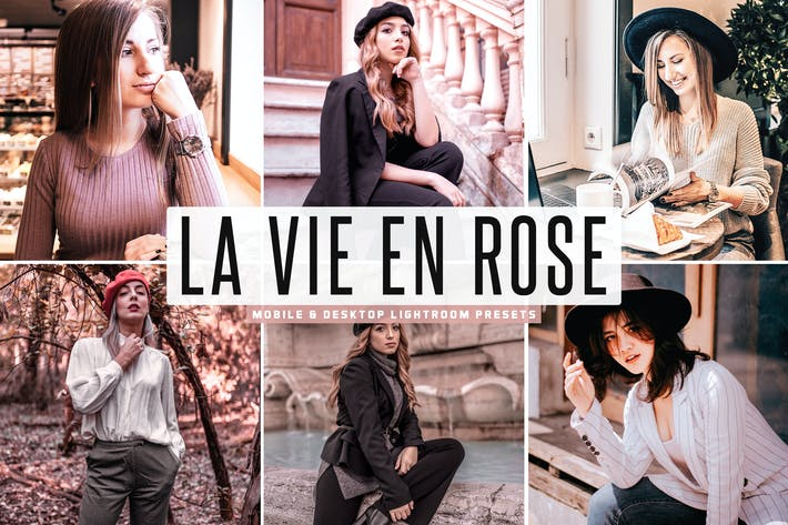 Thumbnail for La Vie En Rose Mobile & Desktop Lightroom Presets