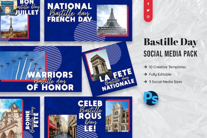Thumbnail for Plantilla de medios sociales del Día de la Bastilla