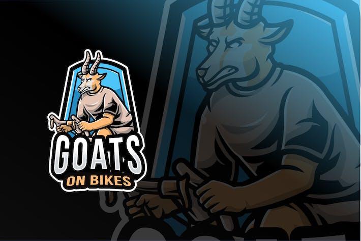 Thumbnail for Goats on Bikes Sport Logo Template