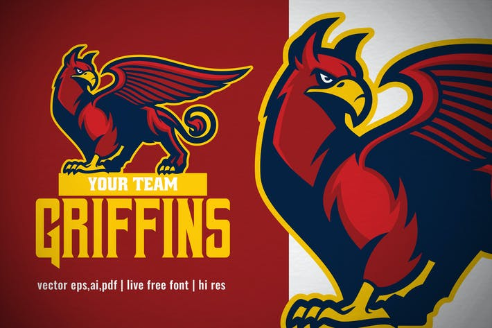 Thumbnail for Mascot Griffin for sport and esport logo