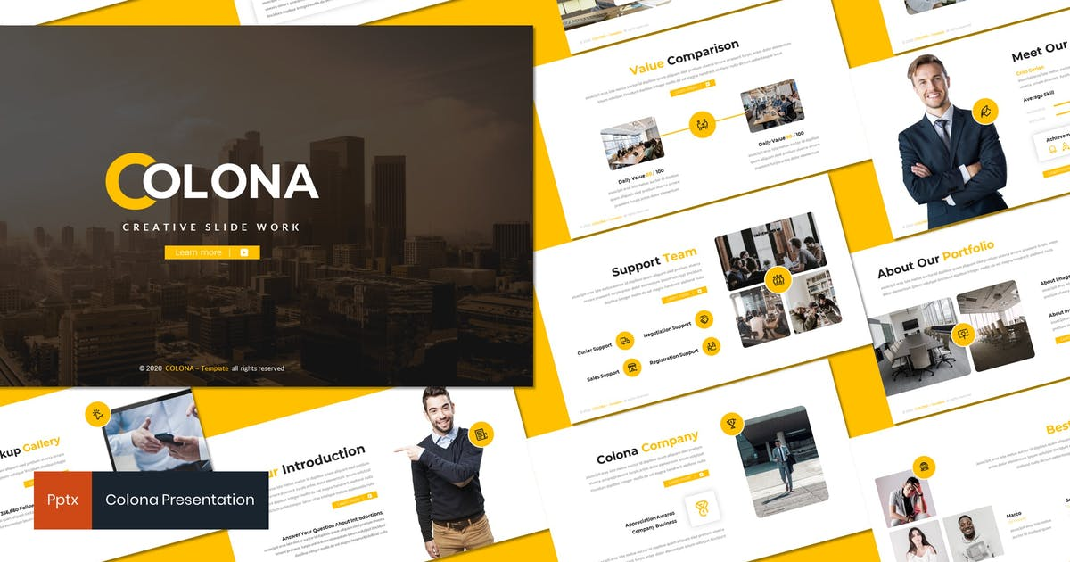 Download Colona - Business Powerpoint Template by inspirasign