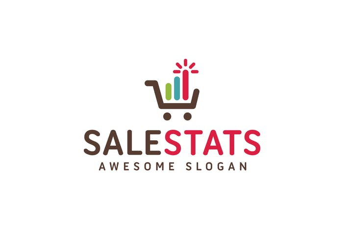 Thumbnail for Sale Stats Logo Template