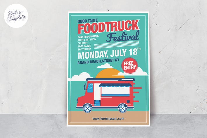 Thumbnail for Food Truck Poster Template