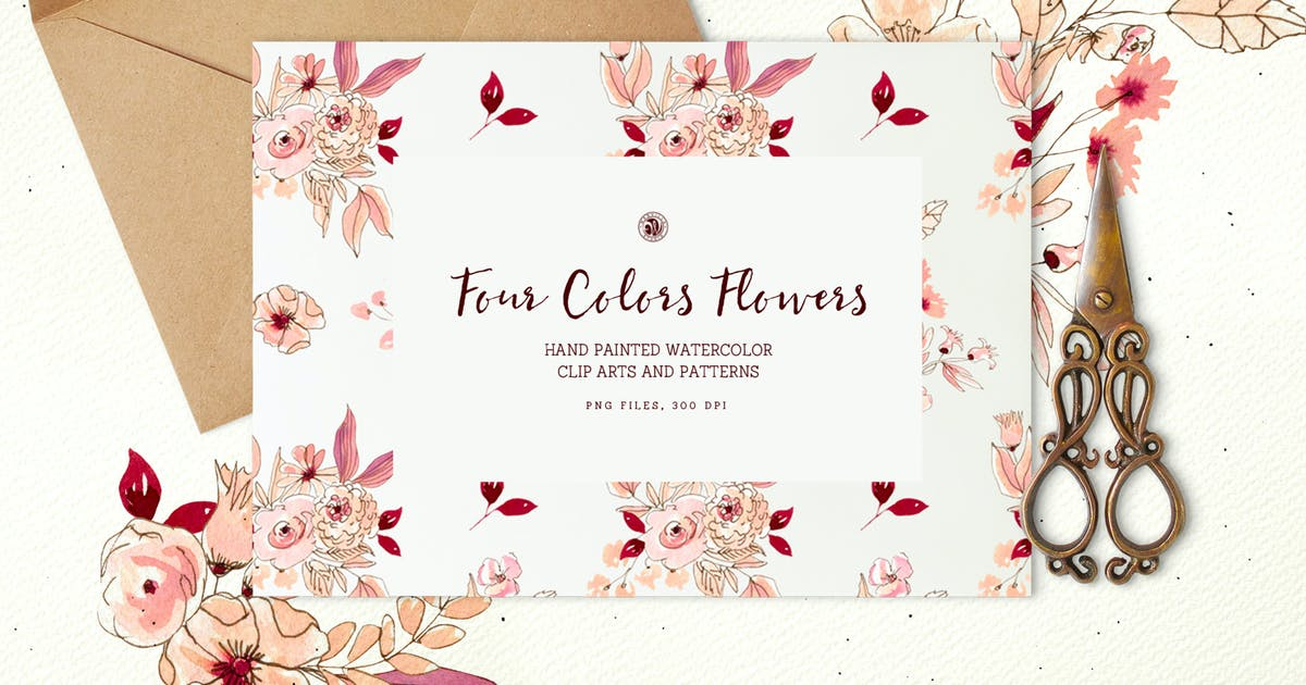 Download Four Colors Flowers by Webvilla
