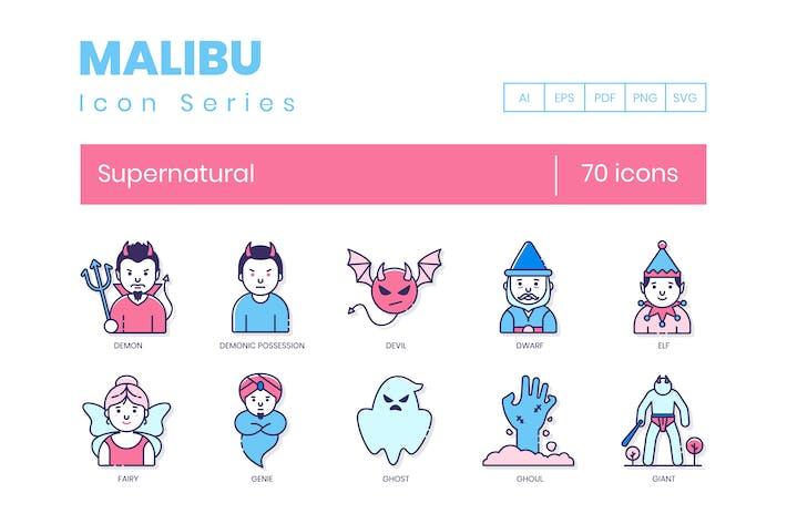 Thumbnail for 70 Supernatural Icons - Malibu Serie