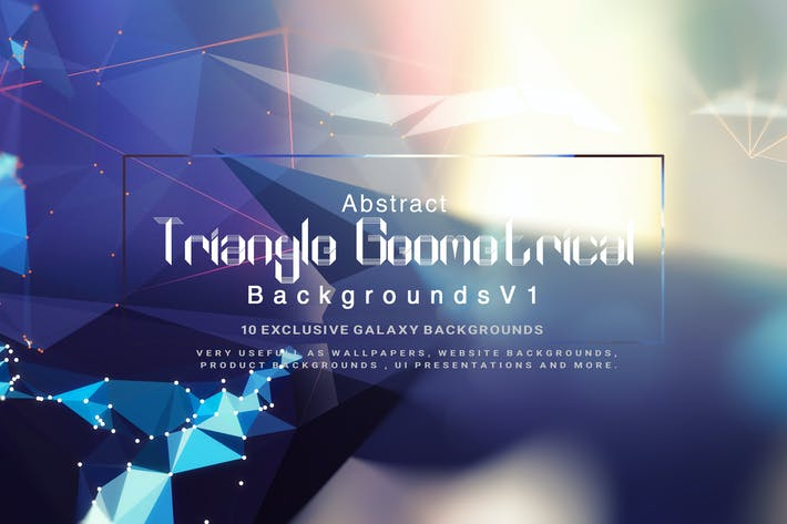 Thumbnail for Abstract Triangle Geometrical Background V1